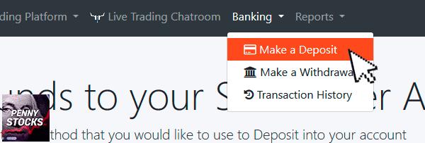 Como depositar dinheiro na conta SureTrader