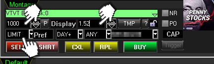 Ordem limitada na plataforma Sure Trader Desktop da corretora SureTrader