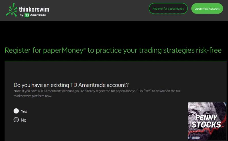 Como abrir conta paper trading na TD Ameritrade (thinkorswim)