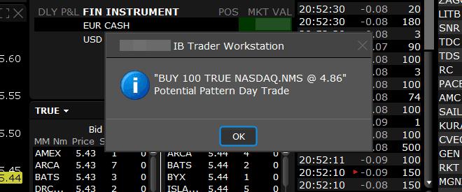 PDT Rule na plataforma TWS da Interactive Brokers