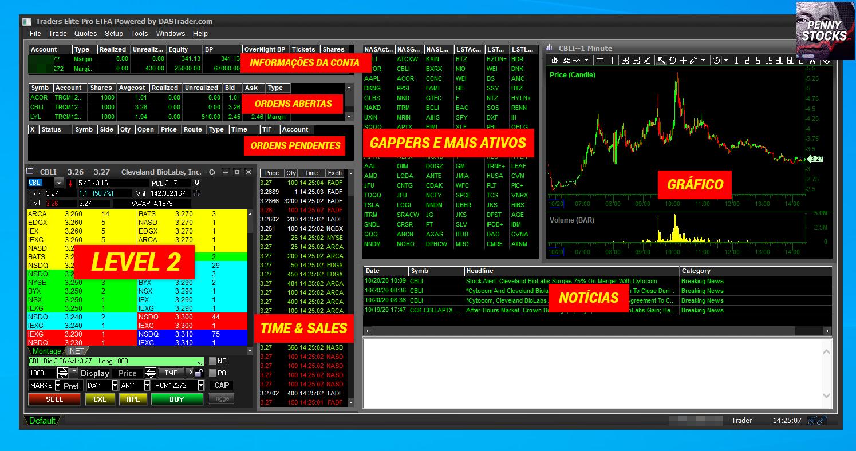 Plataforma Das Trader Pro na corretora CMEG