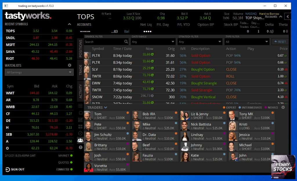 Trading Opções na plataforma Tastyworks