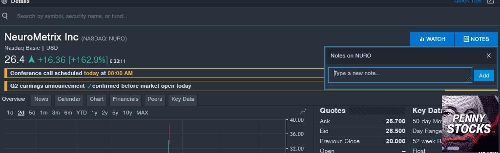 Análise de ações no Benzinga Pro