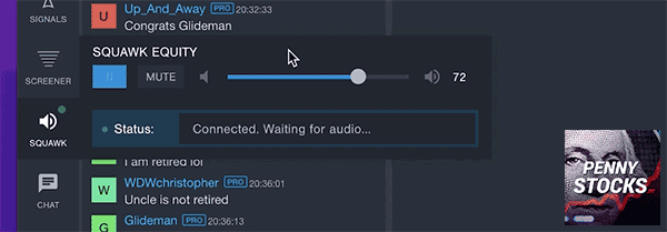 Como ativar o Audio Squawk no Benzinga Pro